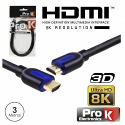 CABO HDMI 2.1 PROK 3M...